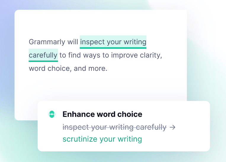 Grammarly Writing Corrections
